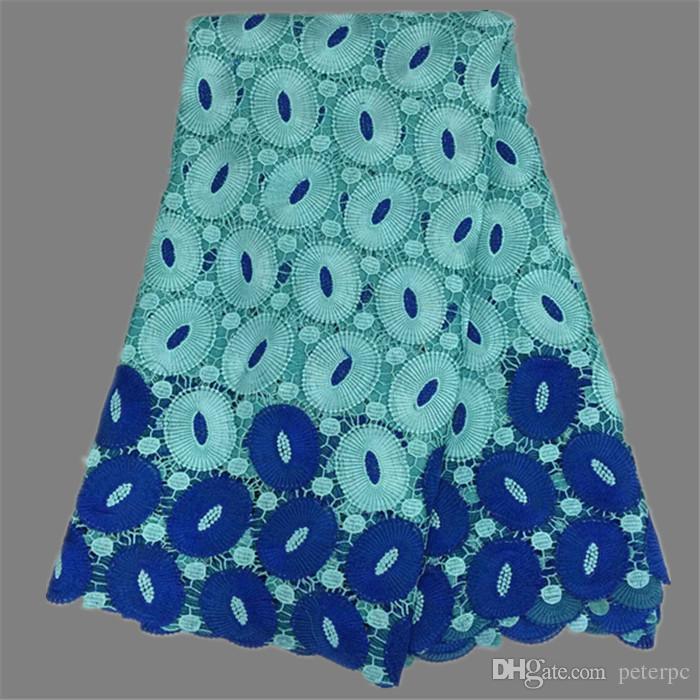 레이디 드레스 EW43 5yards / 에 대한 높은 클래스 컬러 혼합 아프리카 화학 수용성 레이스 패브릭 패션 코드 레이스 헝겊