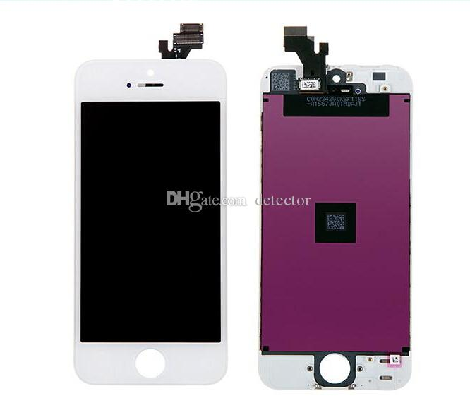 LCD For iPhone4/4S 5 5C/5SFree Fedex EMS DHL Ship with touch screen Full set Assembly White and black color