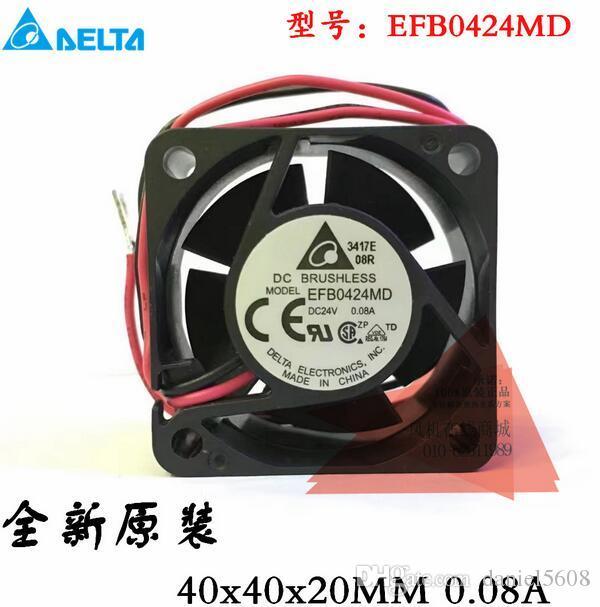 Original autêntica Taida 4020 24 V 0.08A 4 CM EFB0424MD 2 linha inversor fã