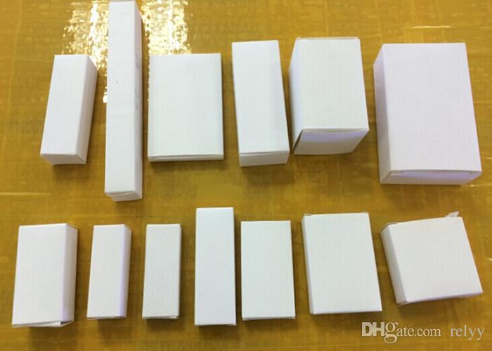 100 قطع لا شعار مربع الأبيض ورقة مربع ورقة مربع التعبئة مربع الأحجام 70x45x45mm