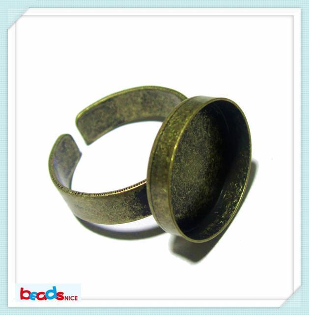 BeadsniceリングベースCabochonsベース直径16mmの真鍮リングトレイ宝石類Making ID 3428