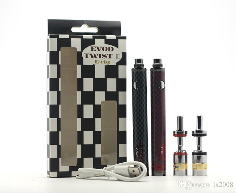 Neue EVOD Twist III Kit 1600mAh EVOD Twist 3 Batterie M16 Zerstäuber Riesige Vaporizer Kit E Zigarette Kit Schnelles Verschiffen