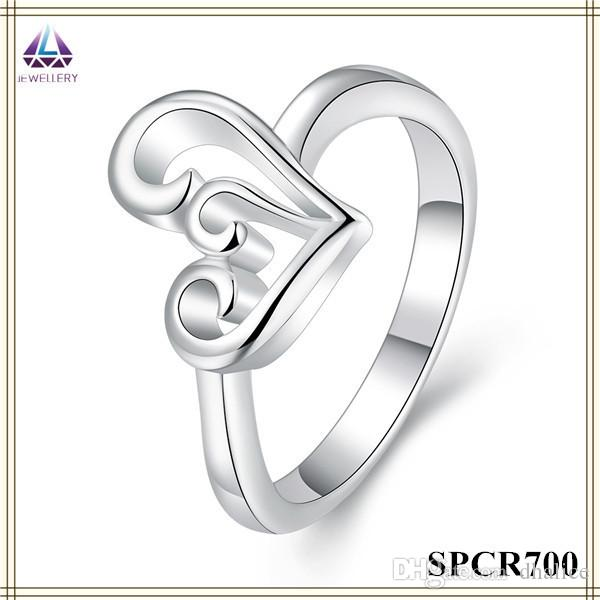 New Model Wedding Ring Silver Plating Hollow Out Heart Shape Pendant