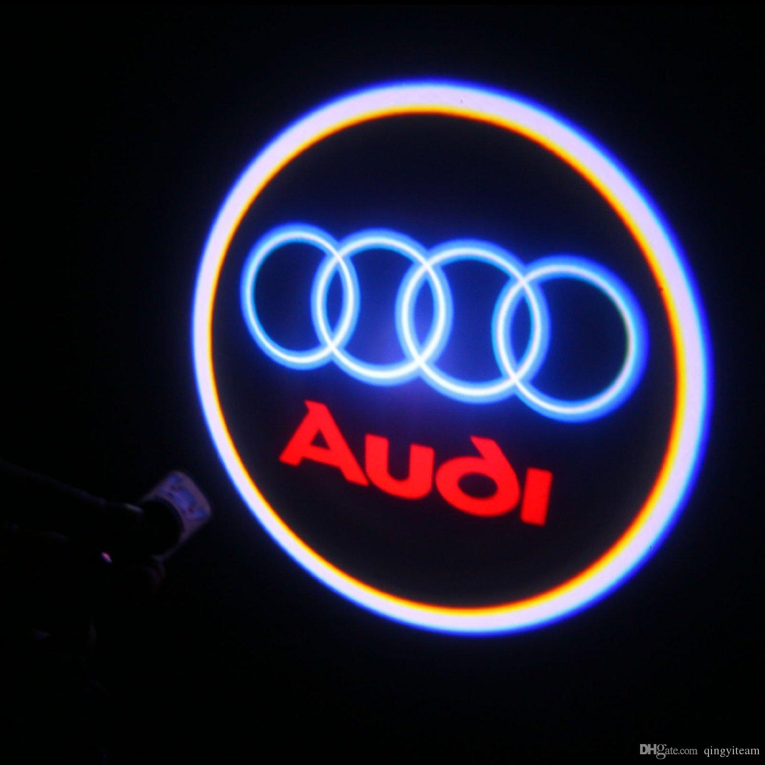 For AUDI Car Door Projection LED Welcome Light Ghost Light Shadow - Audi car sign