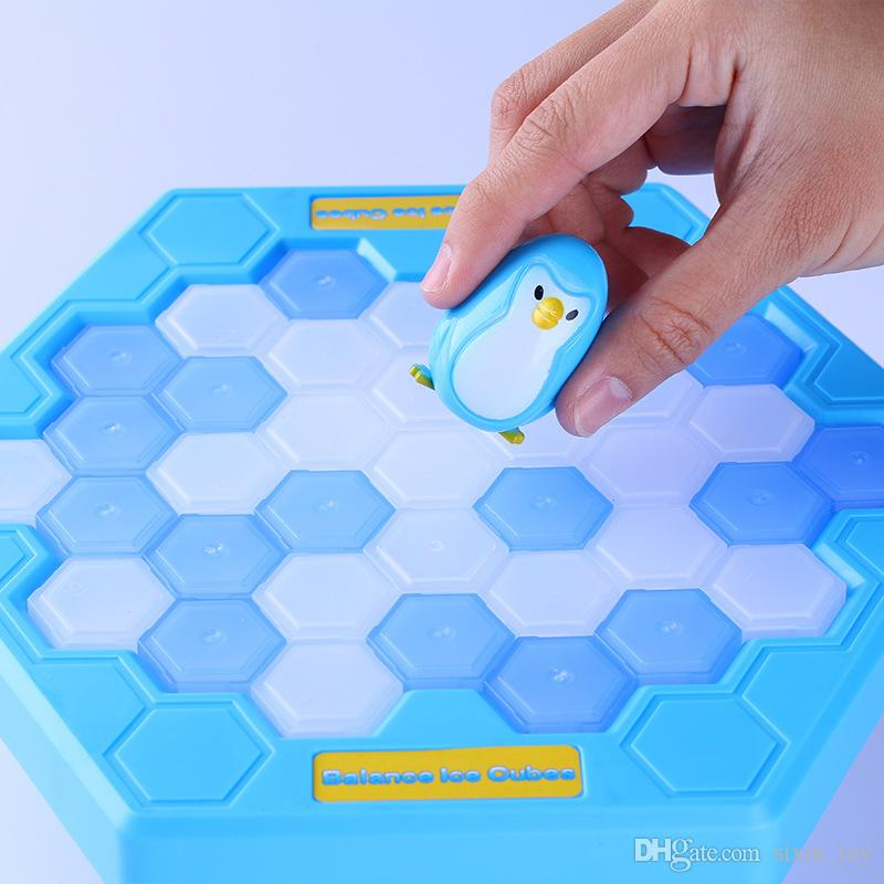 2017 Hot MINI Ice Breaking Save The Penguin Family Fun Game Penguin Trap Activate Funny Table Game Interactive Entertainment