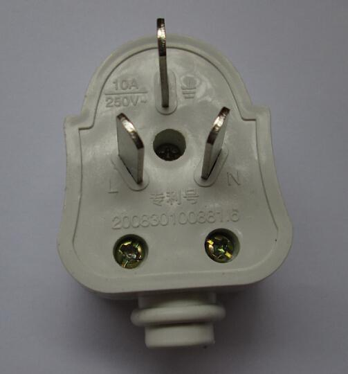 White US 3 Phase Electrical Plug With Ground For Light, House ...