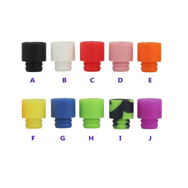 Newest silicone Drip Tips Wide Bore Drip Tip for 510 EGO Atomizer Mouthpiece Kanger protank subtank rda E Cigarettes Vaporizer vape mods