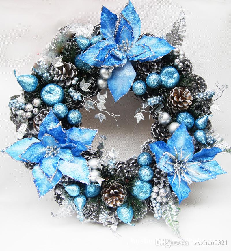Blue christmas wreath my