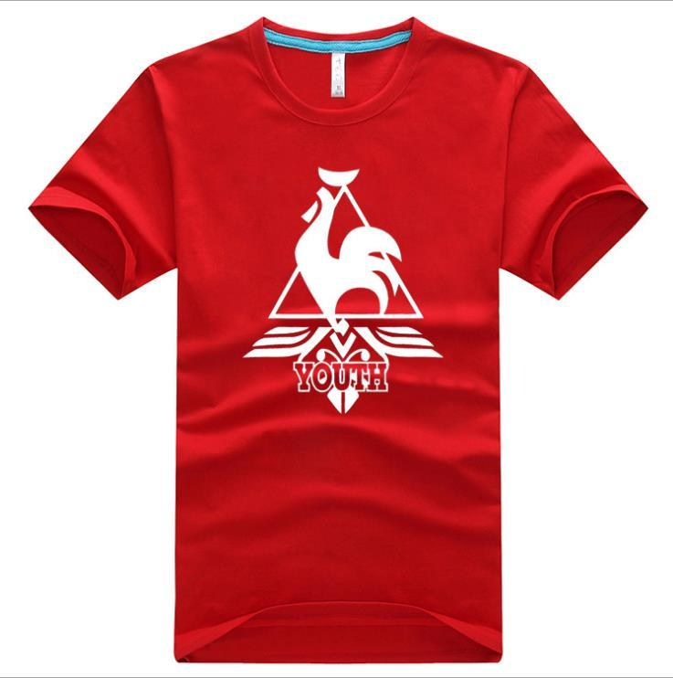 Summer New Le Coq Sportif France Cock Le Coq Sportif Men And Women Cotton T  Shirt Lovers Round Neck Short Sleeve Shirt Fashion Tide Hot Whol Patriotic  T ... 956680bd7