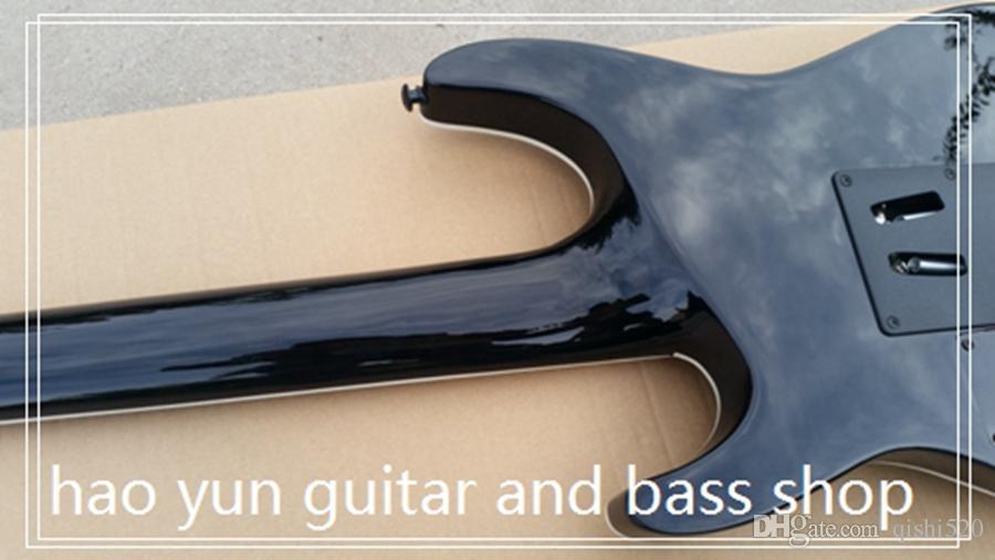 7 cordes guitare électrique guitare floyd rose pont noir accessoires 24 frettes rose bois touche