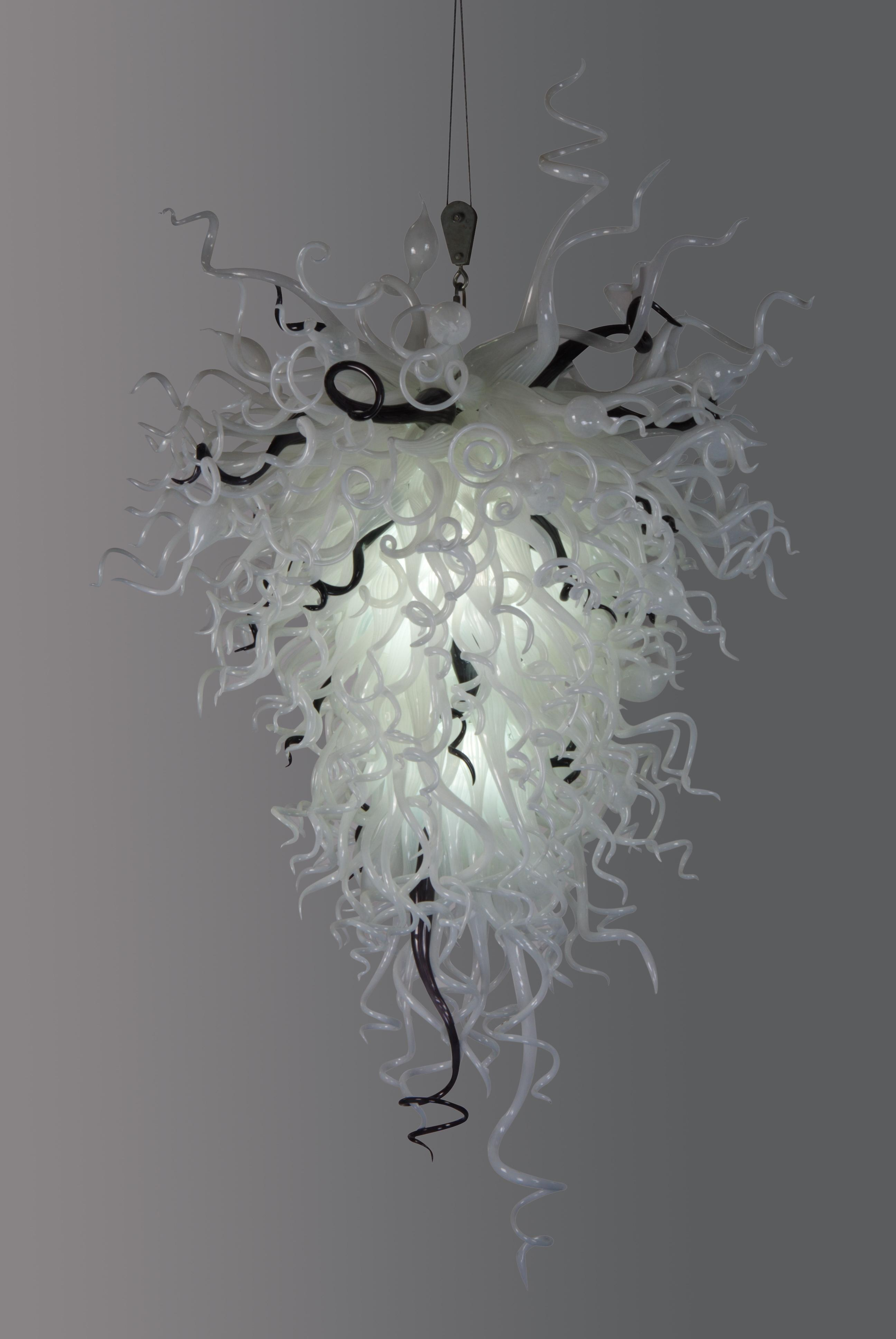 hand blown lighting. led source 100% hand blown borosilicate glass dale chihuly murano art creative chandelier light pendant lamp hanging from lighting n