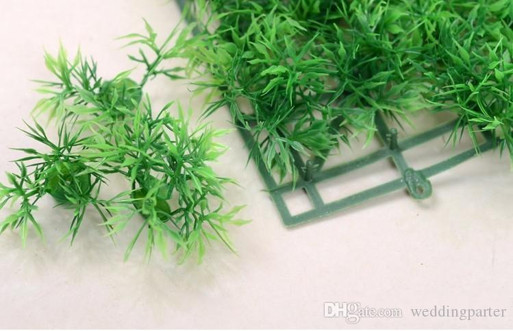 25X25CM Artificial plastic boxwood mat topiary tree Grass Lawn for garden home wedding decoration
