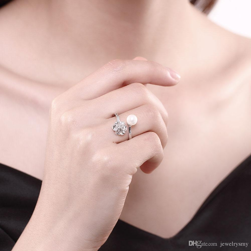 2018 Lekani And The Wind 925 Sterling Silver Fashion Lady Flat Ring ...
