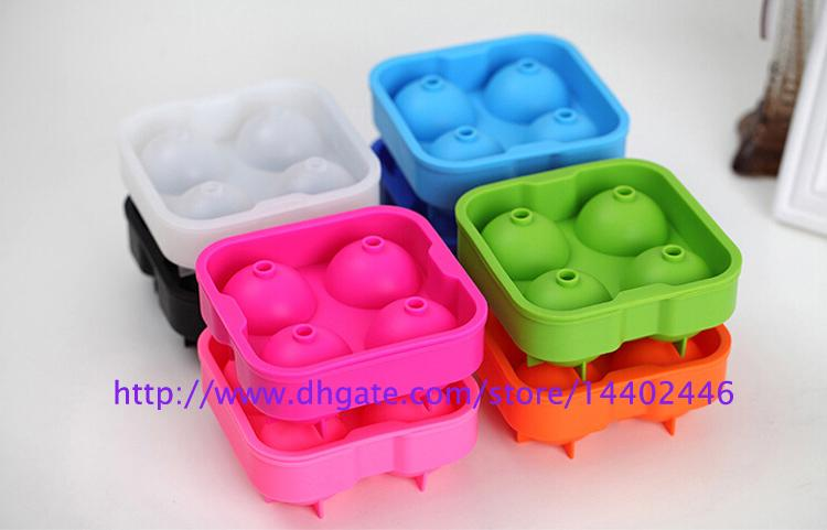 Free shipping 30sets Ice Cube Ball Drinking Wine Tray Brick Round Maker Mold Sphere Mould Party Bar Silicone