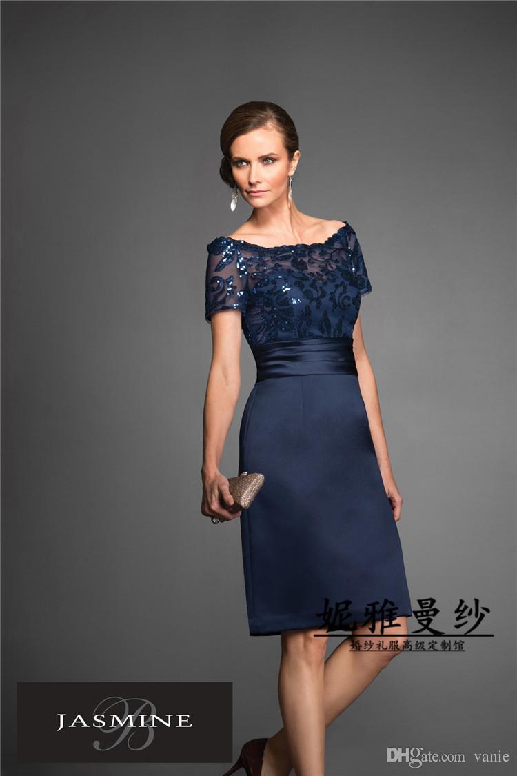 Großhandel Nm14 Satin Sequine Lace Kurzarm Fashionable Plus Size ...