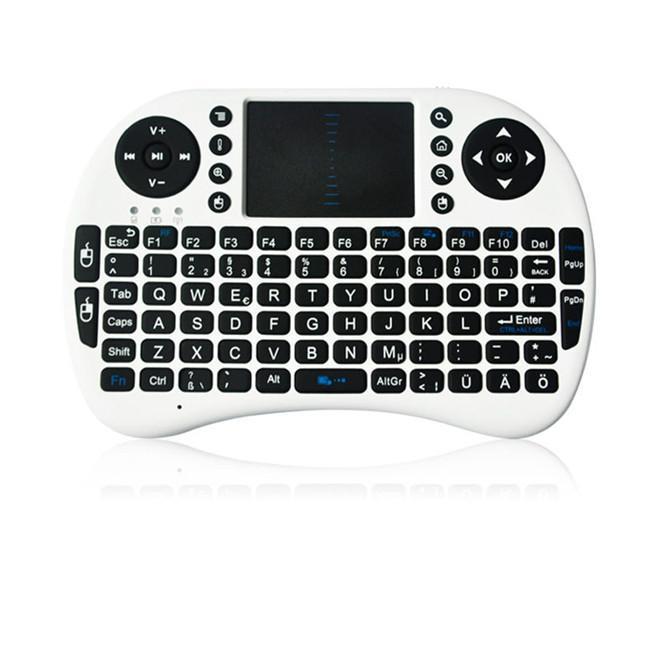 Rii I8 Inteligente Voar Air Mouse Controle Remoto 2.4 GHz Teclado Sem Fio Bluetooth Touchpad Para Android Box Branco Preto