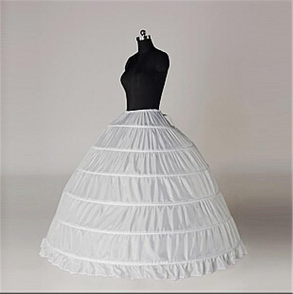 Hot Sale Ball Gown Wedding Dress Petticoat White Underskirt Bridal Accessories 6 Hoop Petticoats Quinceanera Crinoline In Stock Item Video