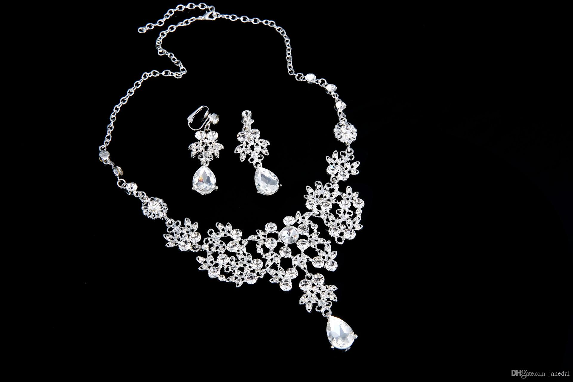2017 Alloy Jewelry Set The Beauty Bride Wholesale Price Diamond