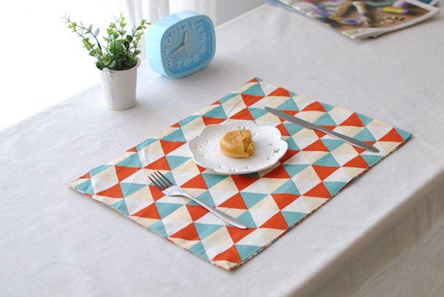 European Cotton Linen Placemats Heat Resistant Placemats Washable Table  Mats Placemats For Table Splice Insulation Mats Cotton Linen Placemat Table  Mat ...