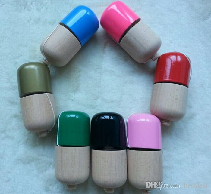 1 hole kendama pill wood Kendama pill 11*5*5cm kendama toys Ball Toy Japanese Traditional Wood Game PU Paint