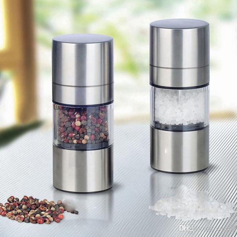 Nouveau moulin manuel de broyeur de poivre de sel d'acier inoxydable