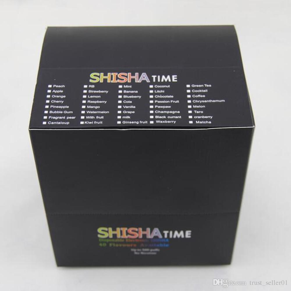 E ShiSha Time Disposable Cigarette E HOOKAH Pen 500 Puffs Various Fruit Flavors Colorful SHISHA TIME vape Pens Electronic Cigarette DHL FREE