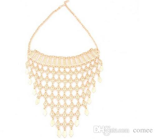Al por mayor-2016 nuevos encantos Dubai 18K chapado en oro de la manera accesorios nupciales de la boda del traje del collar conjunto de conjuntos africanos de la joyería del traje