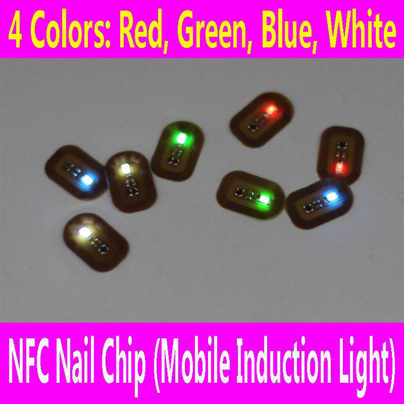 NFC Nail Chip with Double Sided Adhesive Tape LED Flash Sticker DIY ...