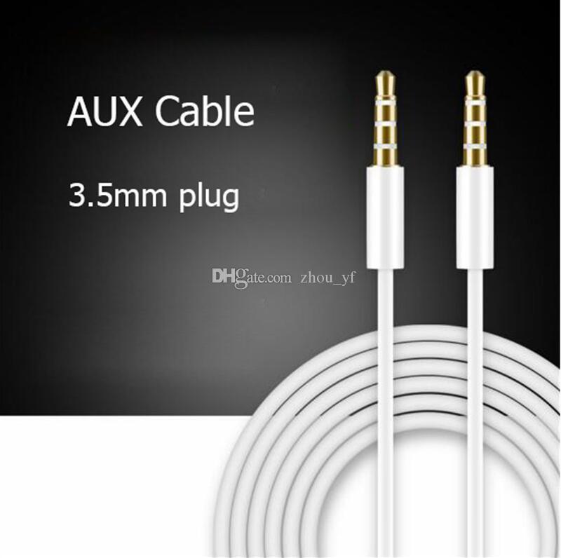 AUX-Kabel 1m 3FT weiß schwarz AUX-Kabel 3,5 mm Klinke Audio-Kabel Stecker auf Stecker Stereo-AUX-Kabel für MP3-PC-Kopfhörer für iPhone iPod Speake