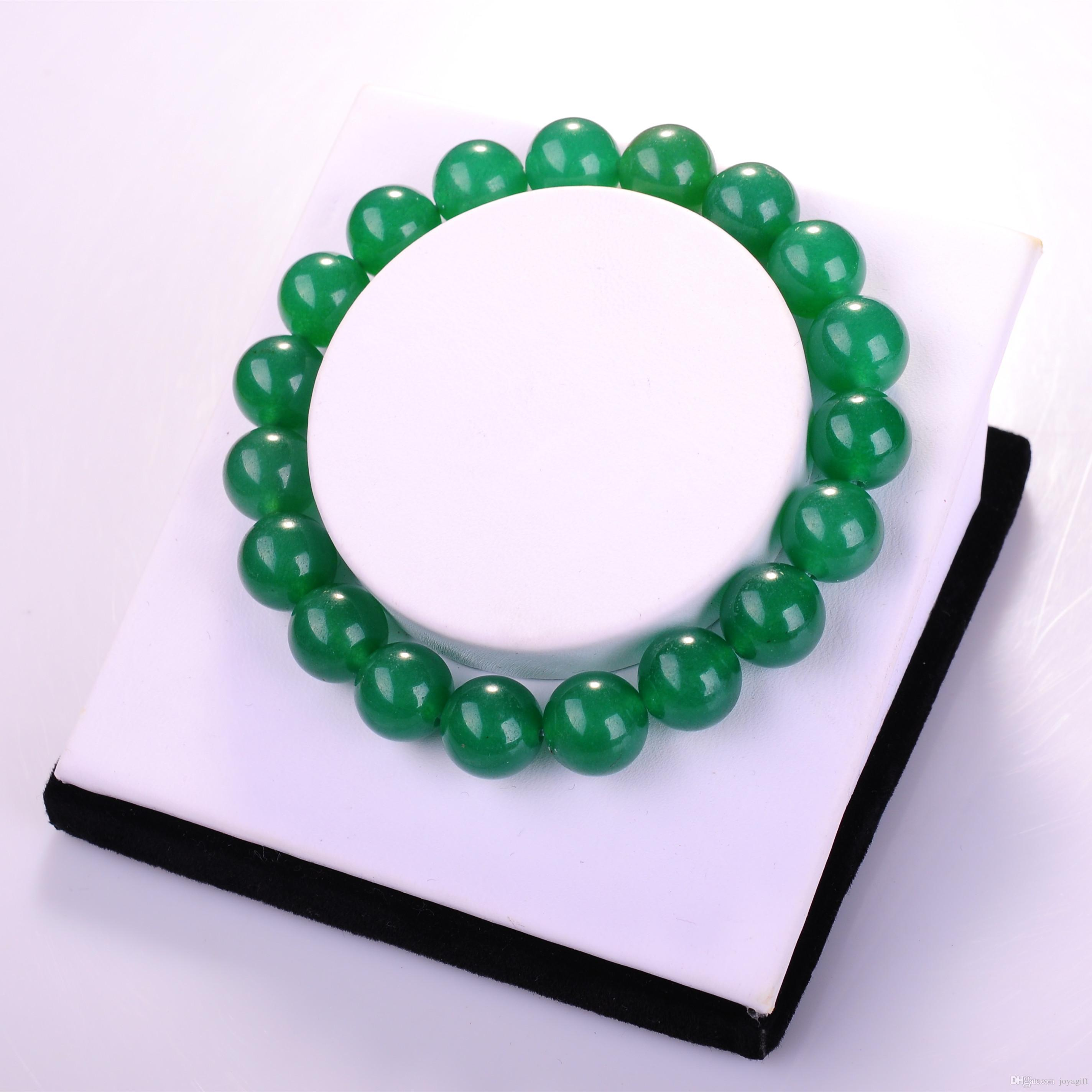 fashion men precious beads women bracelets aventurine from green product bangles stone statement chunky natural round semi crystal jewelry for