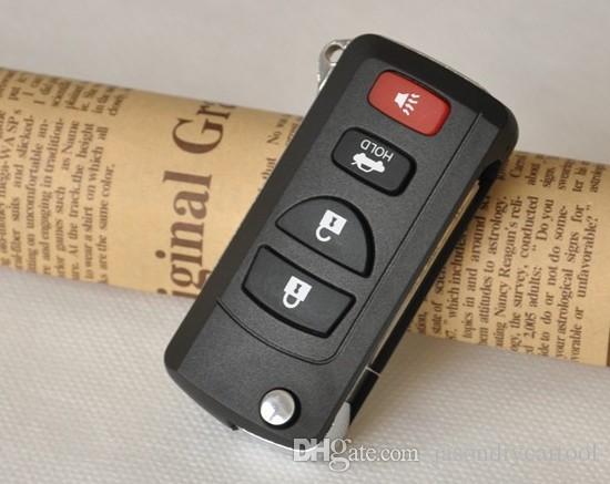4 boutons voiture modifiée Flip pliage clé à distance Shell cas clés vierges couverture pour Nissan Sylphy Tiida