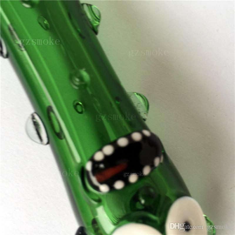 Glass Funny Pickle Pipe Smoking Accessories Smoking Pipes Smoke Cucumber Heady tobacco Hand pyrex colorful spoon Cute