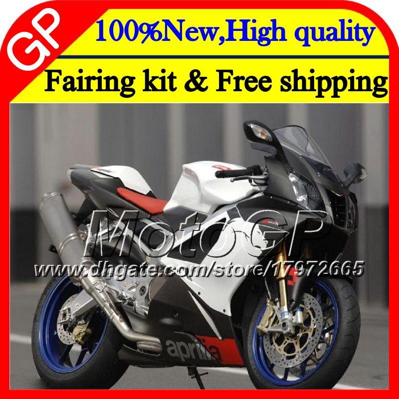 Carrosserie Pour Aprilia RSV1000R Mille RSV1000 RR 03 04 05 06 07 08 2GP11 RSV 1000R 2003 2004 2005 2006 2007 2008 Noir blanc Carénage moto