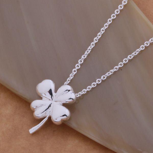 Livraison gratuite avec numéro de suivi Best Most Hot vente Femmes Delicate Gift Jewelry Collier en argent 925 Trèfle