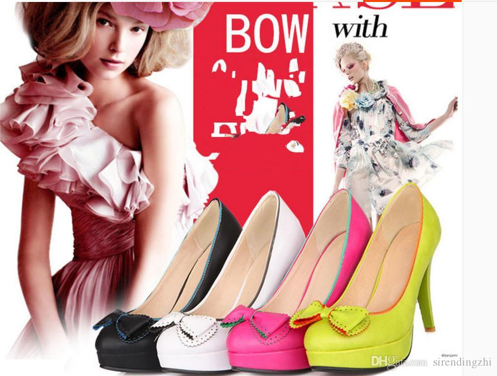 2016 sweet bow with high custom 30-33 small princess shoes 40-48 large size shoes