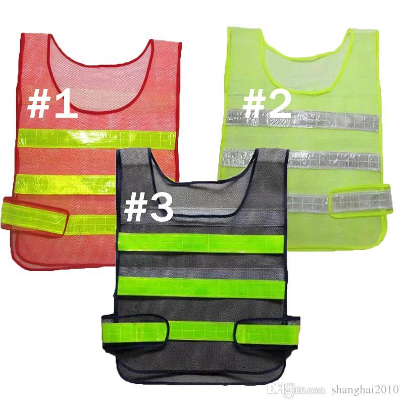 Vestuário de Segurança Colete Refletivo Colete oco grade de alta visibilidade Aviso de segurança de trabalho Construção Colete De Tráfego