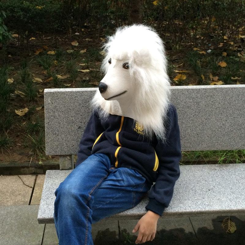 Realistic White Poddle Mask Latex Mask Full Head Cosplay ... - photo#20