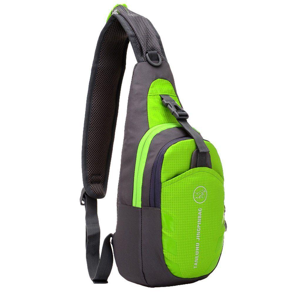 e8c11d321d90 Waterproof Outdoor Sport Chest Bag Pack Sling Backpack Cross Body Bag  Single Shoulder Bag with Adjustable Strap for Hiking Running Cross Body Bag  Daypack ...