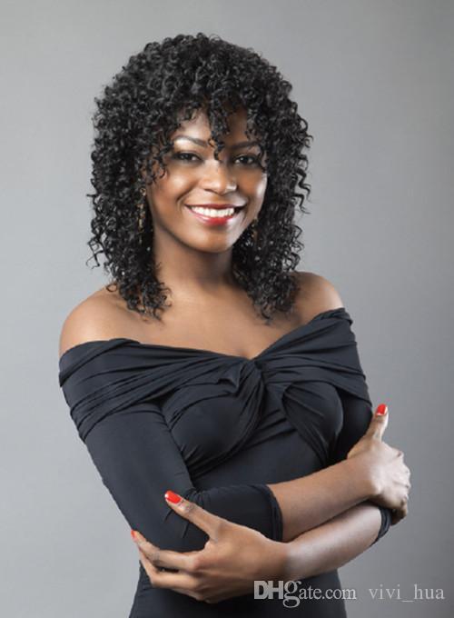 2019 جديد مثل الإنسان باروكات الشعر للنساء السود الباروكات أزياء قصيرة مجعد مستقيم الشعر اللون عالية sythetic الألياف الطبيعية العذراء واقعية لمة