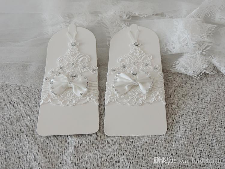 Heißer Verkaufs-Qualitäts-weißer fingerloser Brauthandschuh-kurzer Handgelenk-Längen-eleganter Rhinestone-Brauthochzeits-Handschuh-Brauthandschuh Freies Verschiffen