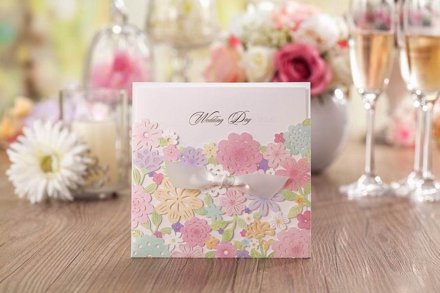 Invitaciones de boda Tarjetas Invitaciones de boda con corte láser personalizado Invitaciones de boda creativas de lujo Tarjetas Diseños nuevos para imprimir