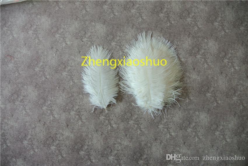 Venta al por mayor 100 unids / lote blanco plumas de avestruz de 5-8 pulgadas plumas para centros de mesa de la boda fuente de la fuente de la decoración Feative supply decoración