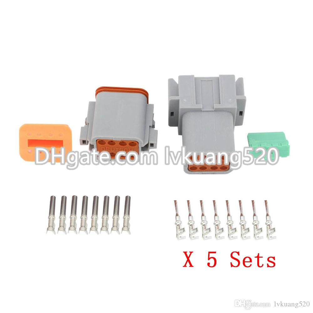 b501812ac2db0c 2019 8 Pin DT04 8P DT06 8S Automobile Waterproof Wire Electrical Deutsch  Connector Plug 22 16AWG From Lvkuang520