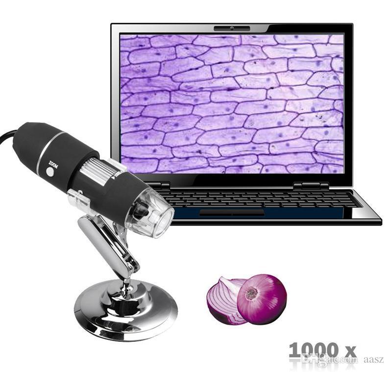 2020 Nouveau Mega Pixels 1000X 8 LED USB Caméra Endoscope Microscope numérique Microscope Loupe Z P4PM