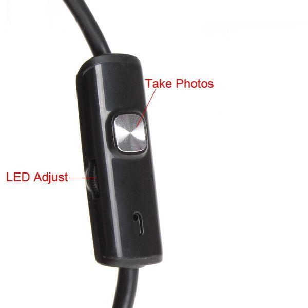 안드로이드 PC의 를위한 5.5mm 6 개의 LED 마이크로 USB 안드로이드 내시경 카메라 7mm 방수 HD 720P 130 만 화소 검사 카메라 뱀 튜브