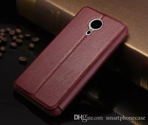 2016 мода для Meizu MX5 задняя крышка ультра-тонкий тонкий подлинная окно флип роскошный оригинальный красочные стенд кожаный чехол для Meizu MX5