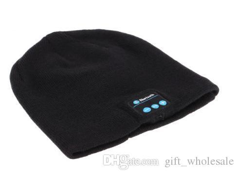 2016 New Bluetooth Music Hat Soft Warm Beanie Cap with Stereo Headphone Headset Speaker Wireless Microphone