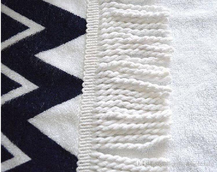 2016 New Hot Cotton Roud Bohemia Printed Tassel Knitted Beach Towel toalla playa serviette de plage drop shipping