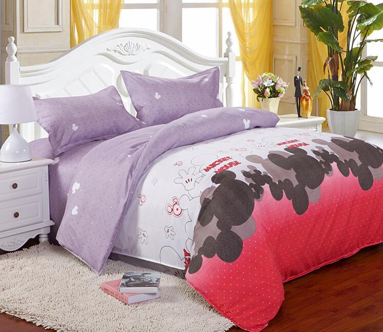 charming Mickey Mouse Bedding Set Queen Size Part - 6: Beautiful Cartoon Mickey Mouse Bedding Set Twin-full-king Size Bedclothes  Comforter Bed Linen Duvet Cover 3d Bedding Set Bedding Set Bedding Sets  King Size ...
