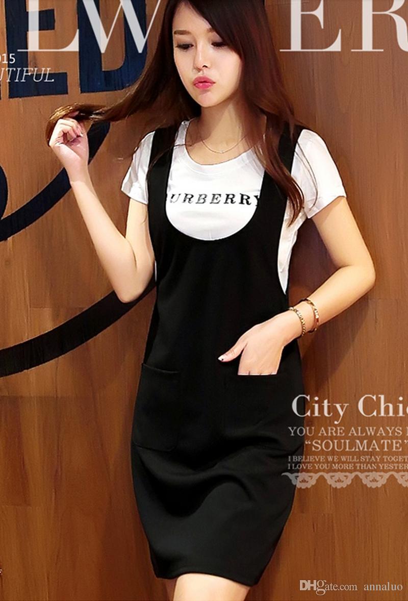 Black dress korean - Fashion Dresses Womens Delicate Korean Suspenders Skirt Thin Two Piece Suit Dress Code Black Dress Women Dresses